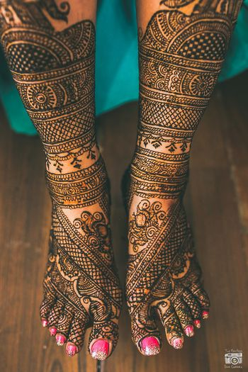 Bridal Feet Mehendi Designs