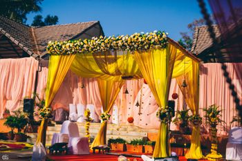 yellow mandap