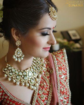 Kundan bridal necklace with pearls