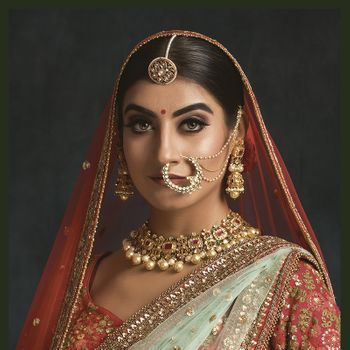 Bridal look with borla