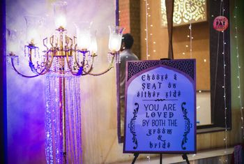 Message board decor for guests at entrance