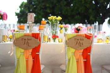 Photo of Mr and mrs colourful chair decor ideas