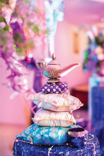 Sangeet theme idea with Arabian nights