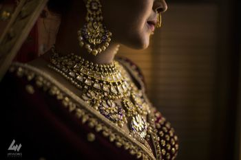 Pretty bridal necklace shot
