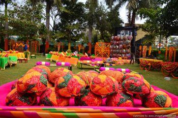 colorful pagdis kept as decor
