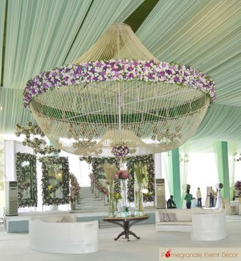 lavender and white chandelier