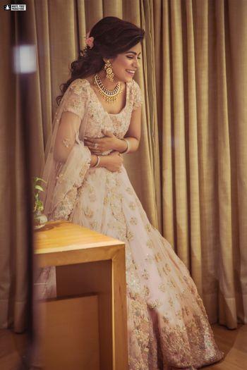 Candid pretty bridal portrait