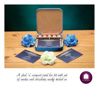 Jewellery box wedding card