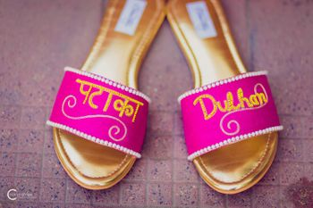 Photo of Customised bridal slippers