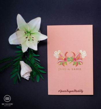 Wedding card minimal with hashtag