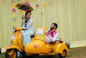 Photo of Mehendi prop photobooth scooter with side car