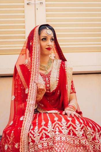 Double dupatta draping style for Sikh bride