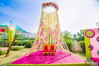Mehendi bridal seat decor ideas