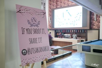 Printed idea for wedding hashtag