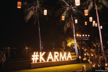 Wedding hashtag display idea for destination wedding