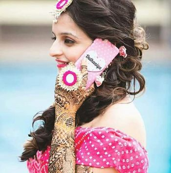 Photo of Customised bridal phone cover saying dulhaniya