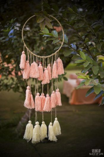 Tassel dreamcatcher diy decor idea