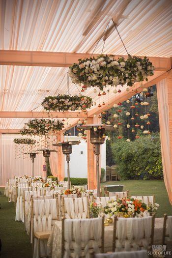 Unique trellis hanging floral decor
