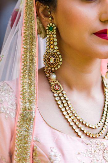 Kundan bridal jewellery simple