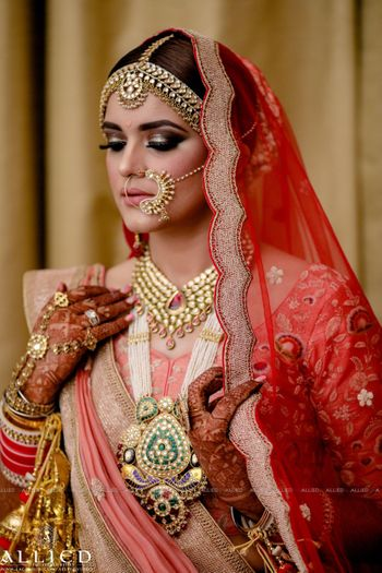 Bridal jewellery with rani haar