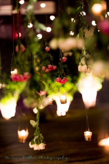 Tea Lighting Decor and Hanging Floral Decor