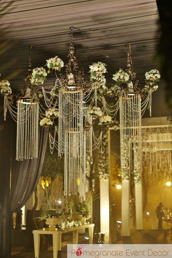 Photo of hanging chandeliers