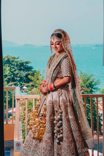 Offbeat unique bridal lehenga with embroidery