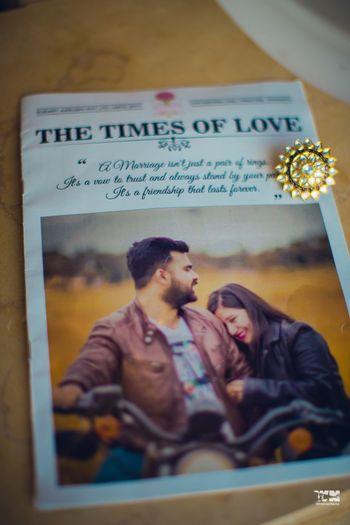 Fun wedding newspaper for a wedding welcome
