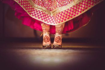 Bridal shoes and mehendi