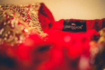 Bridal lehenga photography Sabyasachi tag