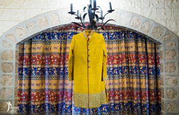 Photo of yellow sherwani