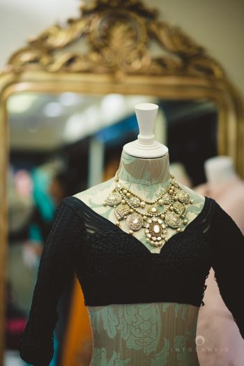 Photo of chunky bridal necklace