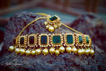 Emerald choker for mehendi or wedding