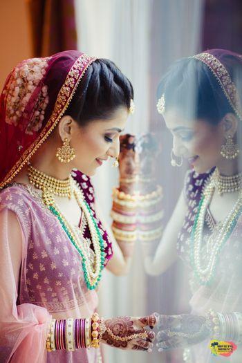 Bridal portrait idea reflection shot