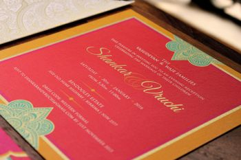 Red Wedding Invitations Photo