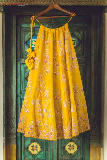 Photo of Yellow lehenga with tassels
