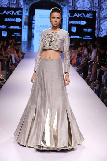 Photo of grey lehenga