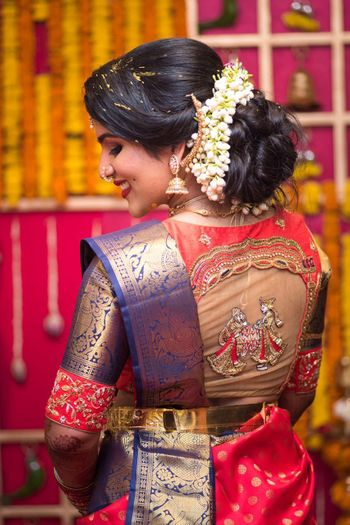 Blouse back style design for south indian bride