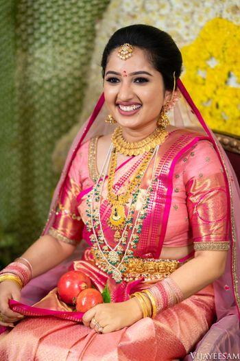 Pretty bridal portrait on wedding day