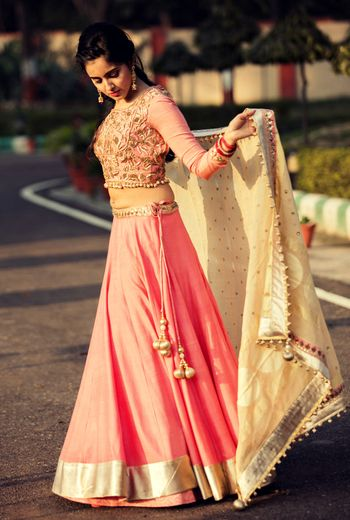 Photo of light pink lehenga