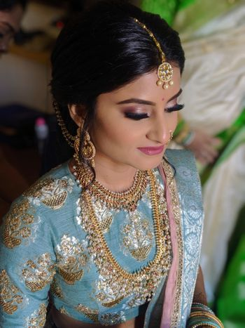 South India bridal look with stunning makeup