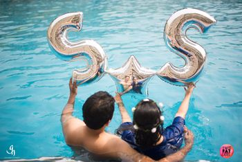Pool party or pre wedding prop foil balloons