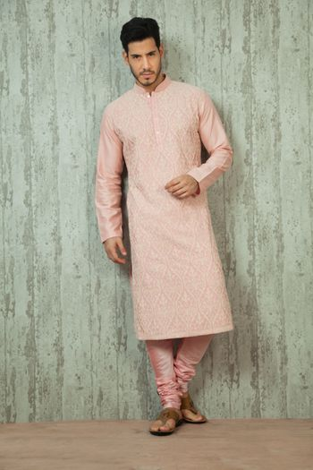 Photo of light pink kurta