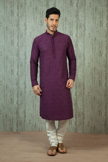 purple kurta
