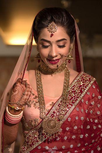Simple bridal necklace rani haar