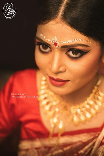 Beautiful bengali bride makeup