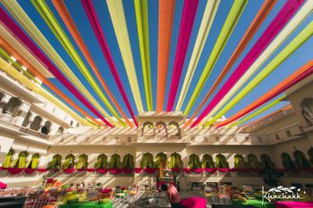 Pretty colourful drapes for an outdoor event