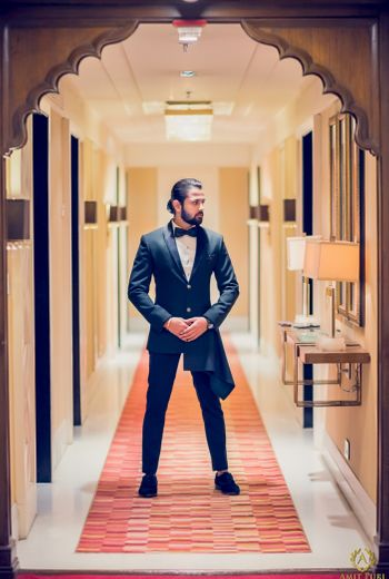 Smart black tuxedo for a wedding event