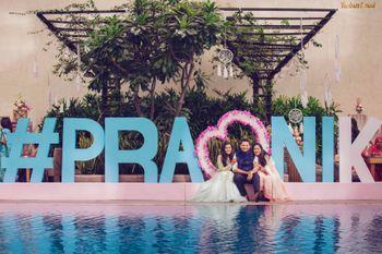 Wedding hashtag pool party ideas
