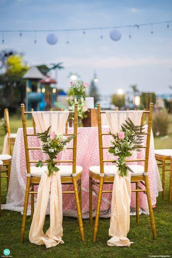 Floral chair decor idea for engagement